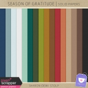 Season of Gratitude- Solid Papers