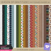 Season of Gratitude- Patterned Papers #1