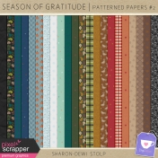 Season of Gratitude- Patterned Papers #2