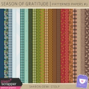 Season of Gratitude- Patterned Papers #3
