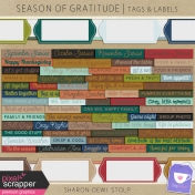 Season of Gratitude- Tags & Labels