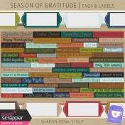 Season of Gratitude - Tags & Labels
