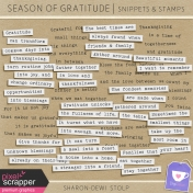 Season of Gratitude- Snippets & Stamps