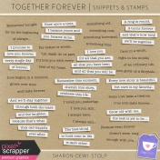 Together Forever- Snippets & Stamps