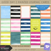 Good Day- Painted Journal Cards