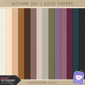 Autumn Day- Solid Papers