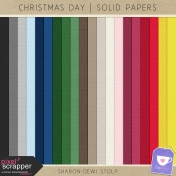 Christmas Day- Solid Papers