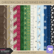 Christmas Day- Patterned Papers #1