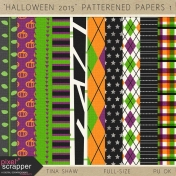 Halloween 2015: Patterned Papers 01