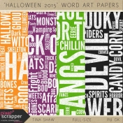 Halloween 2015: Word Art Papers