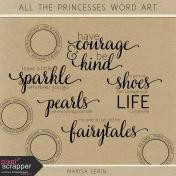All the Princesses Word Art Kit