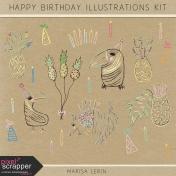 Happy Birthday Illustrations Kit