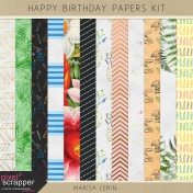 Happy Birthday Papers Kit