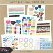 Happy Birthday Print Kit