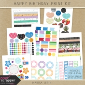 Happy Birthday Print Kit