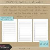 Planner Pages- List Maker Kit