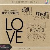 Ice Cream Word Art Kit