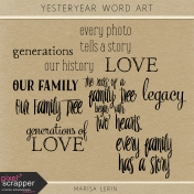 Yesteryear Word Art Kit