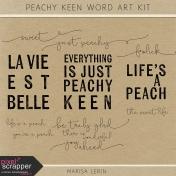 Peachy Keen Word Art Kit