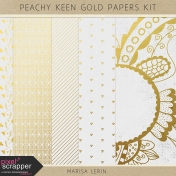 Peachy Keen Gold Papers
