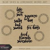 Blue Skies & Lemonade Word Art Kit