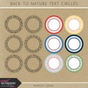 Back to Nature Text Circles