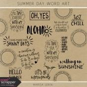 Summer Day Word Art Kit