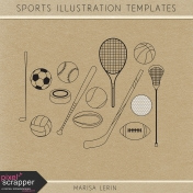 Sports Illustration Templates Kit
