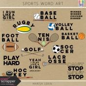 Sports Word Art Kit