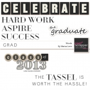 Grad Word Art Kit