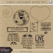 Public Discourse Word Art Kit