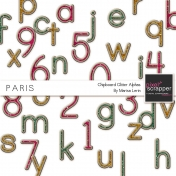 Paris Chipboard Alphas Kit
