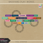 Backyard Play Word Art Kit