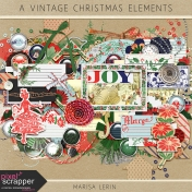 A Vintage Christmas Elements Kit
