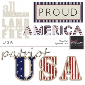 USA Word Art Kit