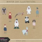 Winter Day Illustrations Kit