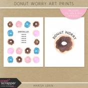 Donut Worry Art Prints Kit
