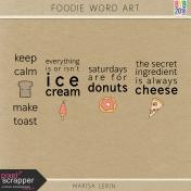 Foodie Word Art Kit