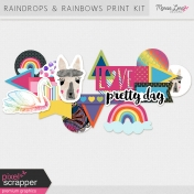 Raindrops & Rainbows Print Kit