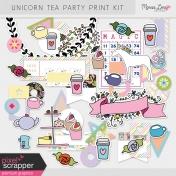 Unicorn Tea Party Print Kit