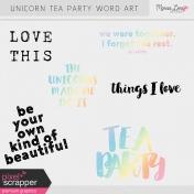 Unicorn Tea Party Word Art Kit