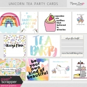 Unicorn Tea Party Cards Kit