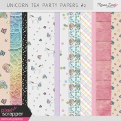 Unicorn Tea Party Papers Kit #2