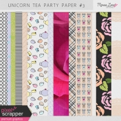 Unicorn Tea Party Papers Kit #3