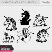 Vintage Images Kit - Unicorns