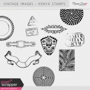 Vintage Images Kit- Kenya Stamps