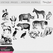 Vintage Images Kit- African Animals
