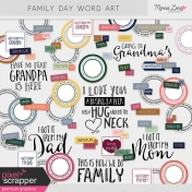 Family Day Word Art Kit