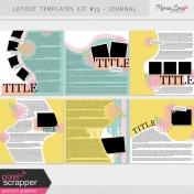 Layout Templates Kit #33 Plus Journaling