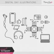 Digital Day Illustrations Kit